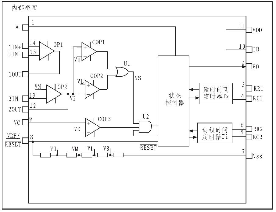 图3 biss0001 芯片内部电路图