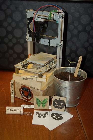 DIY:废旧光驱再利用 自制激光雕刻机