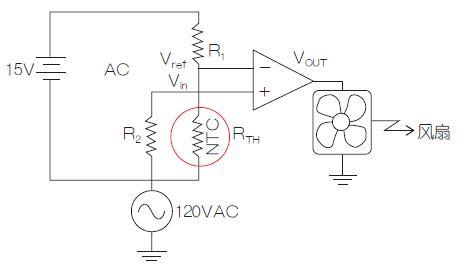 使用测温电桥来控制散热风扇