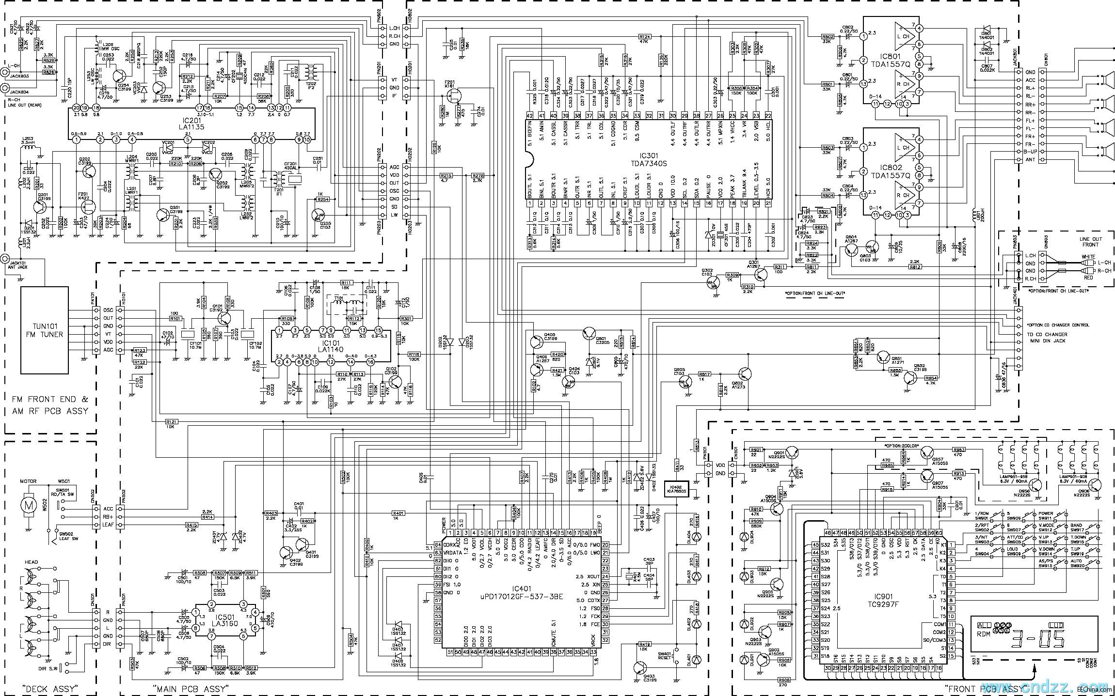 一款tda7340汽车音响电路图