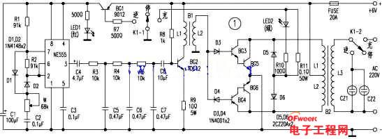 自制家用简易逆变器电路图