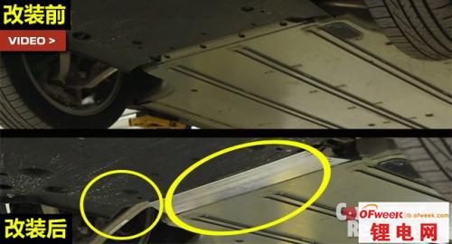 特斯拉电动车锂电池板改造