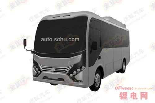 比亚迪电动中巴车型曝光 电池装车顶(图)