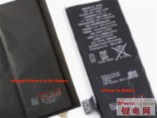 """5.5寸iPhone 6电池曝光 电池也走""""扁平化""""?"""