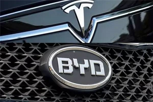 比亚迪,特斯拉,电动汽车,动力电池