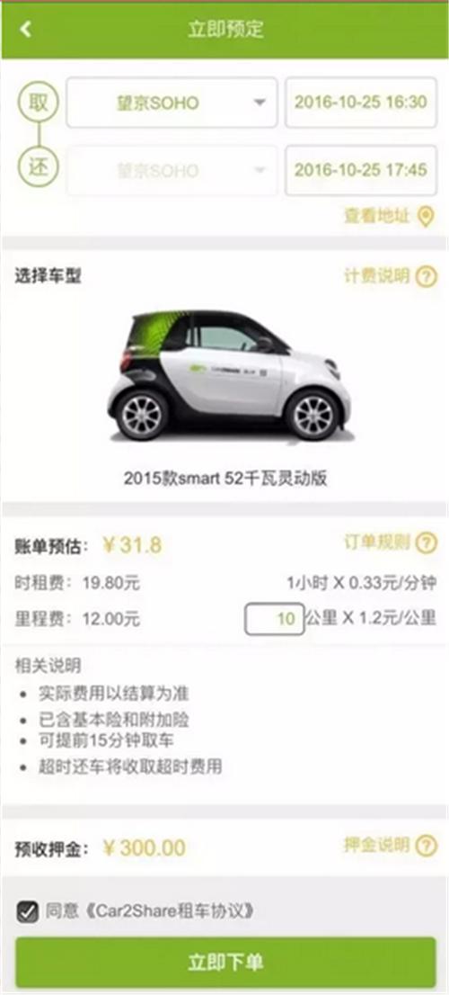 分时租赁,电动汽车,共享经济,Car2Share