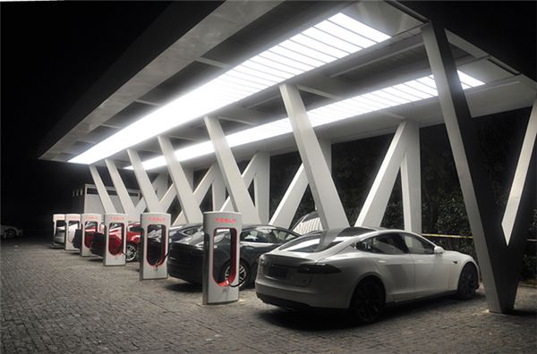特斯拉,电动汽车,充电桩