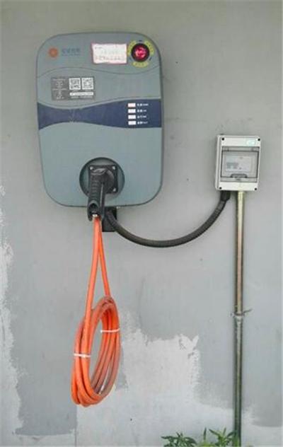 连接好充电线,打开充电桩app
