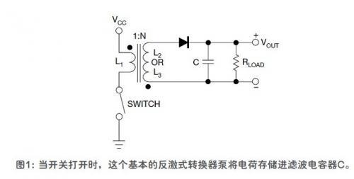 在相位一,开关闭合,因电流流过变压器初级,能量以磁场形式存储起来.