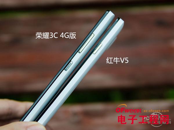 对比评测:荣耀3C 4G版PK红牛V5(多图)