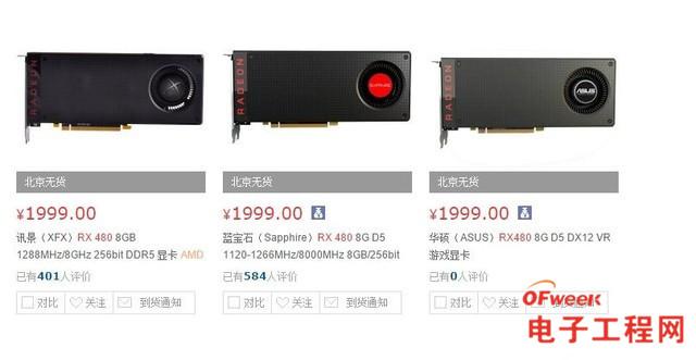 RX 480/GTX 1060对比评测