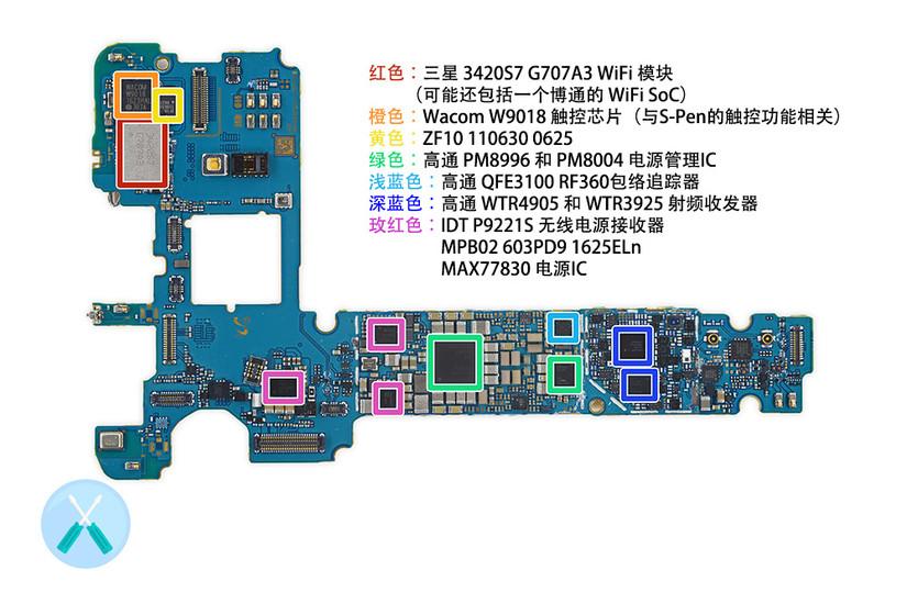 三星Galaxy Note7拆解:部件??榛杓?易于维修更换