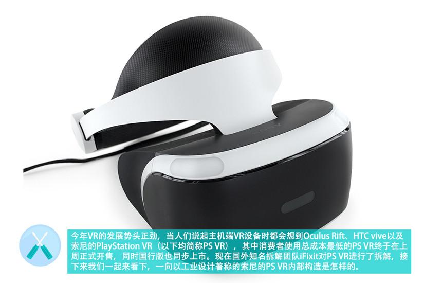 PlayStation VR拆解:内部精致易拆解 看索尼工业设计之美