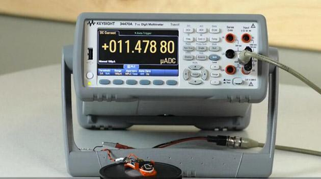 34470数字万用表测试物联网电池损耗